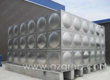 108m³不锈钢饮用水箱安装现场