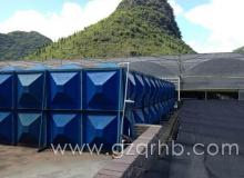 贵安新区—天蓝色玻璃钢水箱