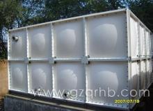 盘县红果冯家庄高铁站前广场—长方体银色玻璃钢水箱
